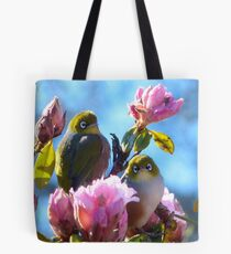 Hey!!... Spring Seems A Little Early This Year!! - Silver-Eyes - NZ Tote Bag
