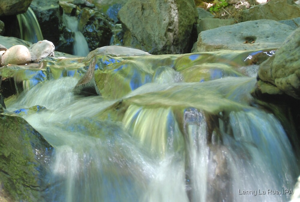 the blue and green rapids by Lenny La Rue, IPA