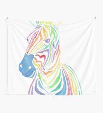 Rainbow Zebra Wall Tapestry