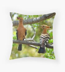 I'm King... NOT!!! - Hoopoe - South Africa Throw Pillow