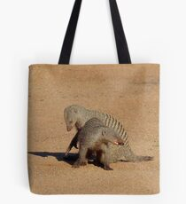 Aww... Aren't You Going To Share That!! - Banded Mongoose - Mabalingwe Nature Reserve Tote Bag