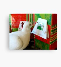 Form Me To YOU... - Dove & Christmas - NZ Canvas Print