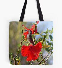 Hibiscus Heaven - Sunbird - SA Tote Bag