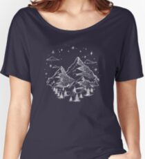 """The Great Outdoors"" in White Women's Relaxed Fit T-Shirt"