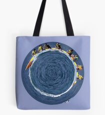 banana boating in a small blue world Tote Bag