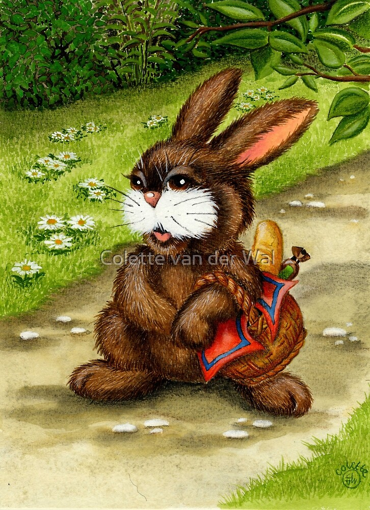 GROCERY SHOPPING RABBIT by Colette van der Wal