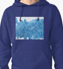 Blue Horse Pullover Hoodie