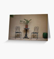 Courtyard - Vaucluse House Greeting Card
