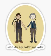 A Couple That Slays Together (Caryl) Sticker