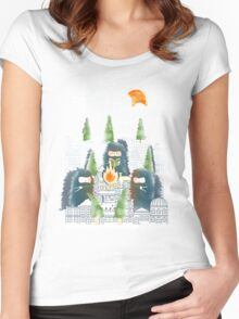 Camping in the City Women's Fitted Scoop T-Shirt