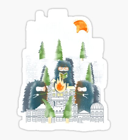 Camping in the City Sticker