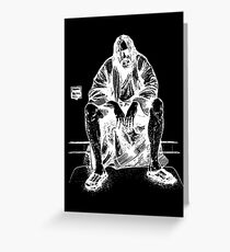 THE DUDE ABIDE Greeting Card