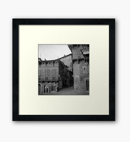 Street corner Siena Framed Print