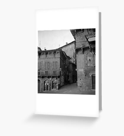 Street corner Siena Greeting Card