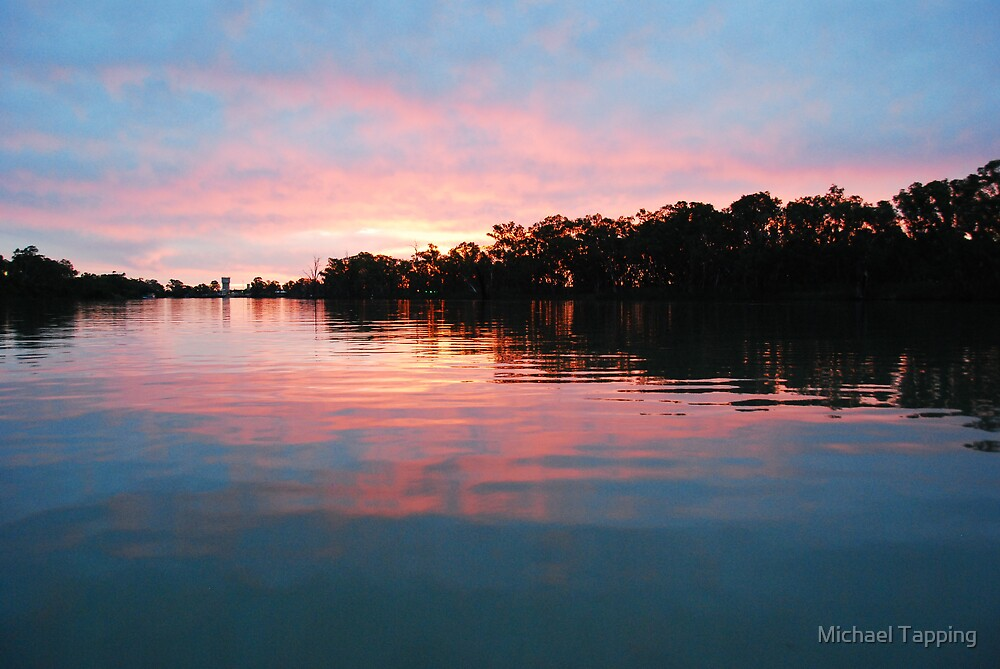 Sunset on The Murrary - Renmark by Michael Tapping