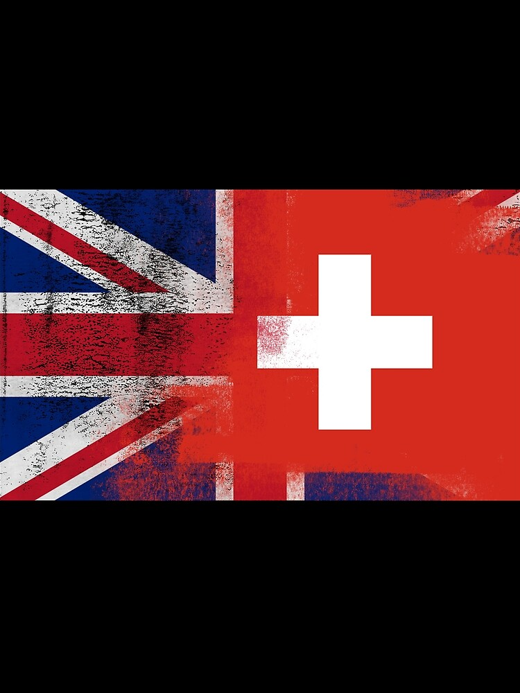 British Swiss Half Switzerland Half UK Flag by ozziwar