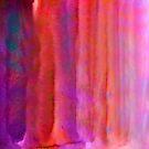 Striped Watercolor Art vibrant Reds by artsandsoul