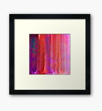 Striped Watercolor Art vibrant Reds Framed Print