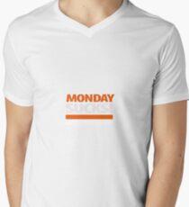 Monday sucks T-Shirt mit V-Ausschnitt für Männer
