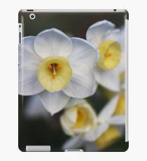 Beautiful White Jonquil Flowers iPad Case/Skin