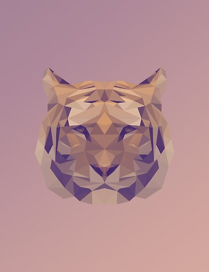 Low Poly Tiger by Carter Kerns