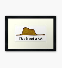 This is not a Hat Framed Print