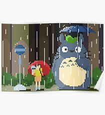 Pixel Totoro Poster