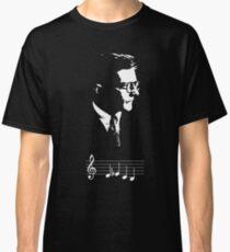 Camiseta clásica Dmitri Shostakovich DSCH adorno notas musicales
