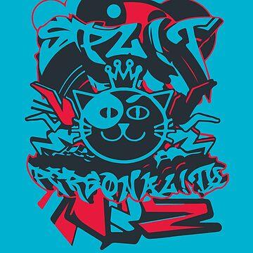Spl!t Personal!ty Blue by yankatank