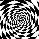Optical Illusion Op Art Black and White by artsandsoul