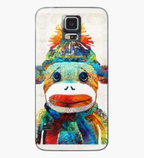 Sock Monkey Art - Your New Best Friend - By Sharon Cummings Case/Skin for Samsung Galaxy