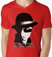 Thinking Hat Collections Men's V-Neck T-Shirt