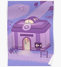 Pokemon Centre (Night) Poster