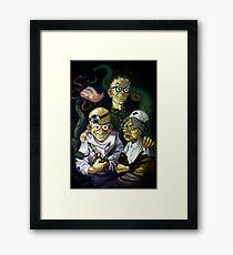 Maniac Mansion Creepy Framed Print