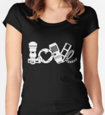 love photo frames Shoot camera with friend t-shirt Women's Fitted Scoop T-Shirt