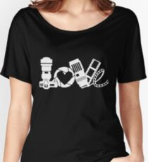 love photo frames Shoot camera with friend t-shirt Women's Relaxed Fit T-Shirt