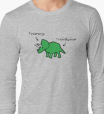 Triceratops Tricerabottom Long Sleeve T-Shirt