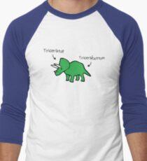 Triceratops Tricerabottom Men's Baseball ¾ T-Shirt