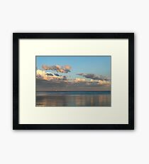 Solo Sail at Sunset Framed Print