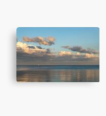 Solo Sail at Sunset Canvas Print