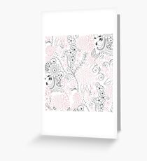 Classy doodles hand drawn floral artwork Greeting Card