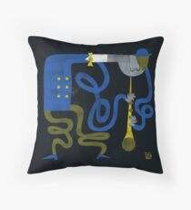 The Grooving Clarinet Throw Pillow