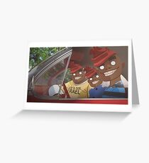 Russels in the car Greeting Card