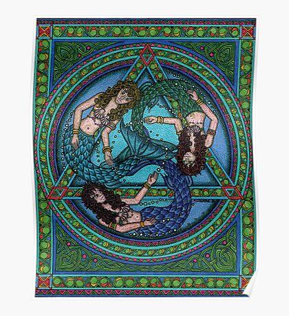 The Three Mermaids Poster