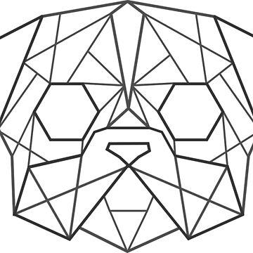 Geometric Pug Face  by Nadinosaur8