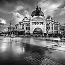 Flinders Street Station - Winter by Christine Wilson