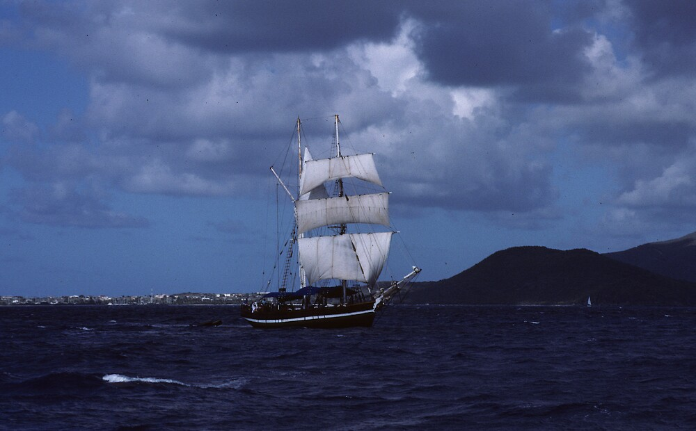 Tall Ship in the BVI by bertspix