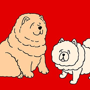 Chow Chow Dog Couple by m-lapino