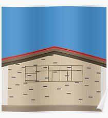0131 Exterior of building retro Poster
