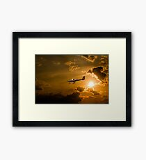 Firy Sky Landing Framed Print